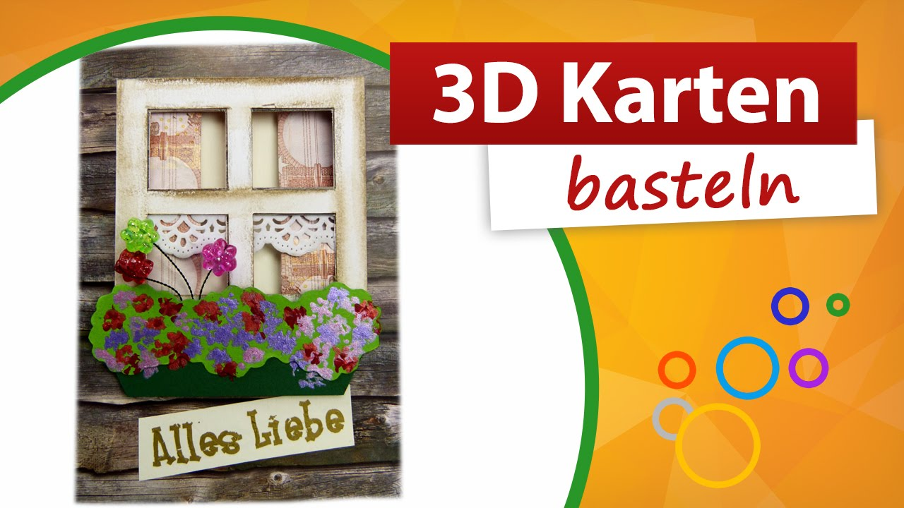 3d karte basteln geldgeschenk basteln trendmarkt24 youtube. Black Bedroom Furniture Sets. Home Design Ideas