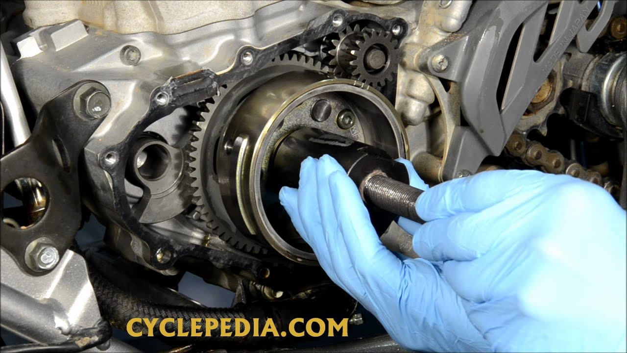 Yamaha Grizzly 660 >> Cyclepedia Flywheel Removal - YouTube