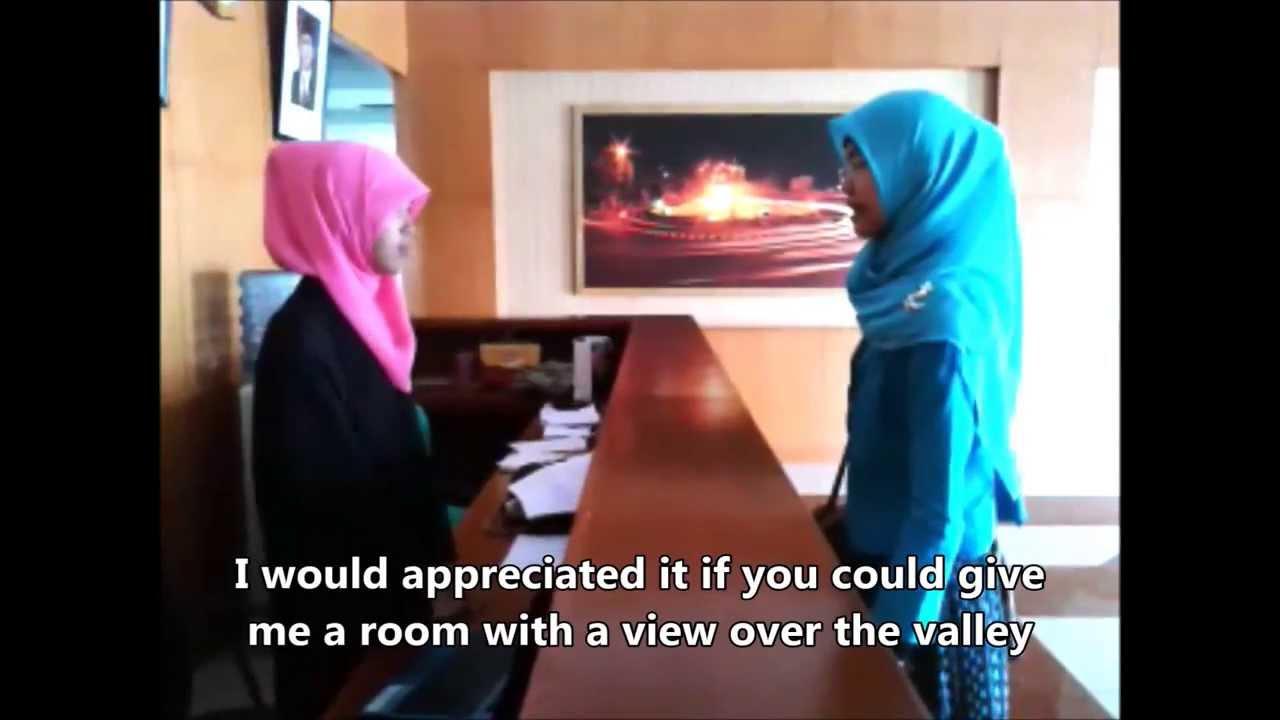 Contoh Percakapan Bahasa Inggris Reservation In Hotel Youtube