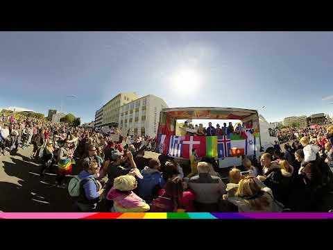 Reykjavik Pride 2017 VR (360° 3D)