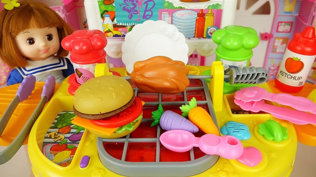 Baby Doli and grill baby doll kitchen house play cute music - ToyPudding