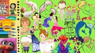 Count all the MOMS in this photo. How many can you find? by Granny B. CKToysClub