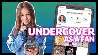 I WENT UNDERCOVER as a FANPAGE  | Sophie Fergi