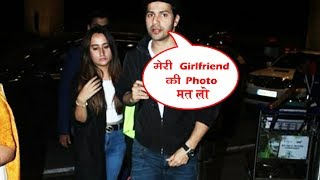 Varun Dhawan With LADYLOVE Natasha Dalal Spotted At Airport
