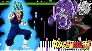 No More! - Dragon Ball Super OST // Vegito Blue , Merged Zamasu (Piano Tutorial) [Synthesia]