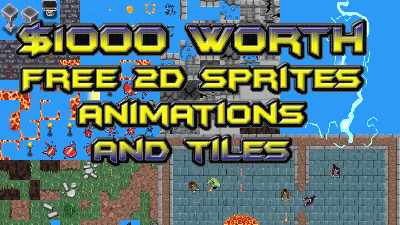 Free 2d Sprites Tiles Animations 1000 Worth Top Down