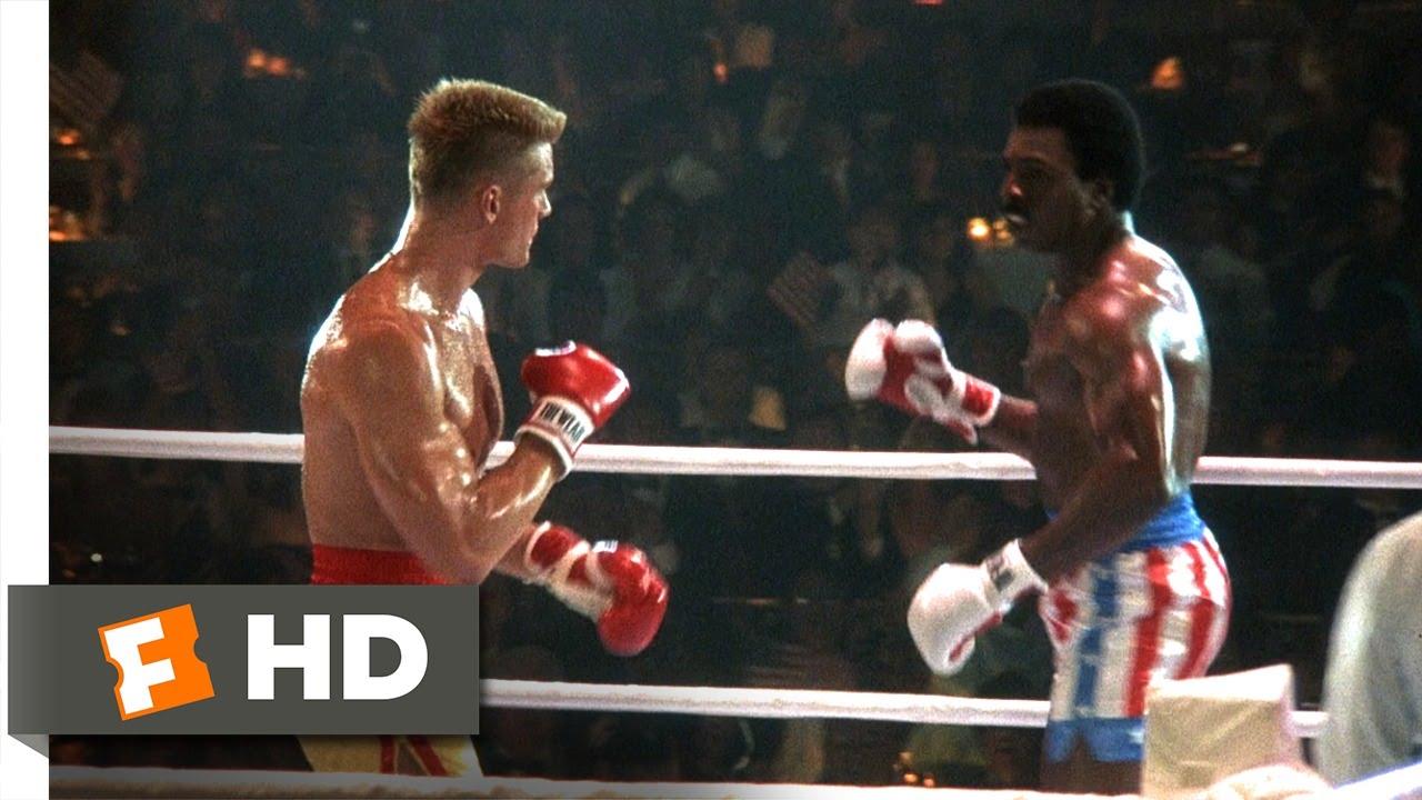 rocky iv 312 movie clip apollos bloody first round