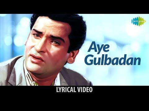 Aye Gulbadan With Lyrics | Professor | Shammi Kapoor | Kalpana | Lyric Video