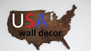 Cool USA Map Wall Decor