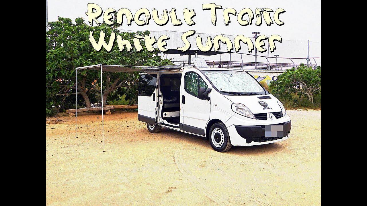 renault trafic camper white summer acl camper youtube. Black Bedroom Furniture Sets. Home Design Ideas
