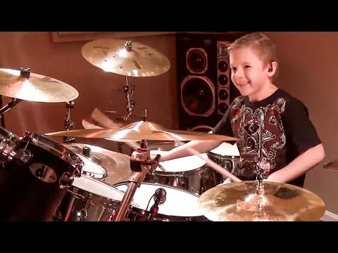 DEVIL WENT DOWN TO GEORGIA (8 year old Drummer) Drum Cover by Avery Drummer Molek