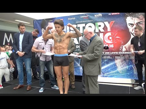 GEORGE HENNON v SAM BALL - OFFICIAL WEIGH IN & HEAD TO HEAD / HISTORY IN THE MAKING