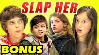 Video KIDS REACT TO SLAP HER (Bonus #123) download MP3, 3GP, MP4, WEBM, AVI, FLV September 2017