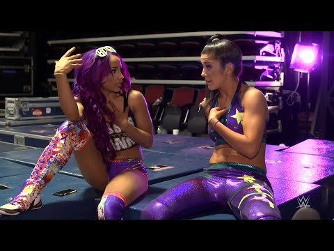 Bayley and Sasha Banks weigh their partner options for newly announced Mixed Match Challenge