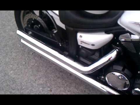 2010 yamaha v star 950 cobra slashdown exhaust youtube for Yamaha 850 midnight special for sale