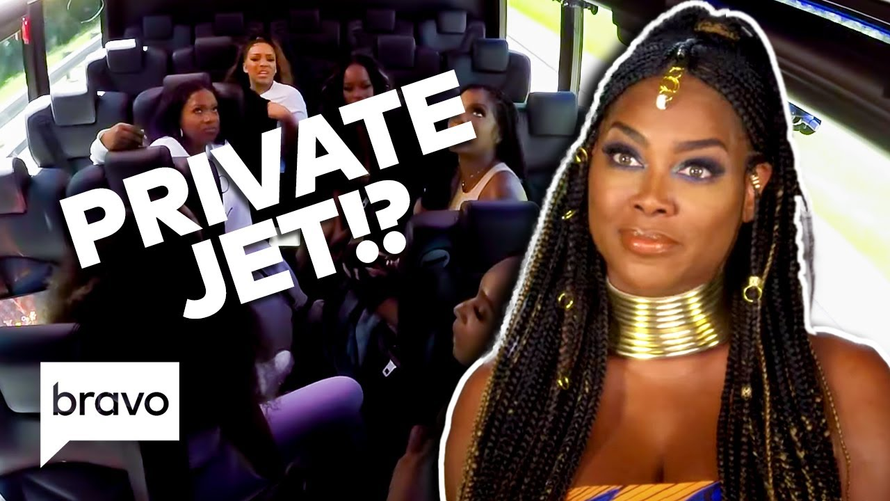 Kenya Moore Is on a Private Jet While the Others Sweat It Out on a Bus | RHOA Highlights (S13 Ep7)