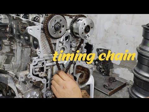 Timing Chain Replacement   Kia Rio   Part 3