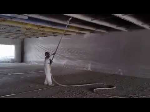 How to spray fireproofing with a pole gun, WR Grace monokote