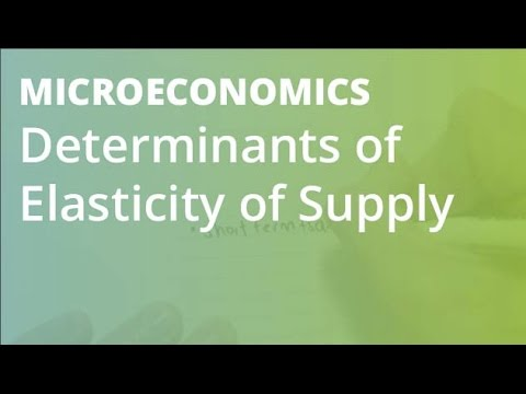 Determinants of elasticity of supply