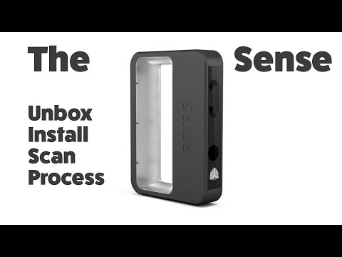 3D Systems Sense - 3D scanner || Unboxing, Installation and first runs