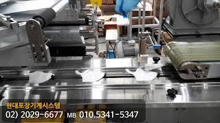 마스크 포장기계  2D 마스크포장  4면 자동포장기계 …