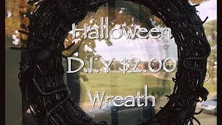 $ 2.00 Halloween Spiders and Snakes Wreath | Goodwill & Dollar Tree Items