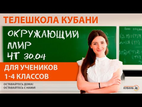 Уроки для учеников 1-4 классов. «Окружающий мир» за 30.04.20 | «Телешкола Кубани»