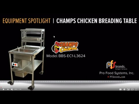 PFSbrands/Champs Breading Table Demo Model BBS-EC1-L3624