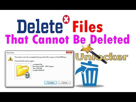 How to Delete Files That Cannot Be Deleted || how to delete a file