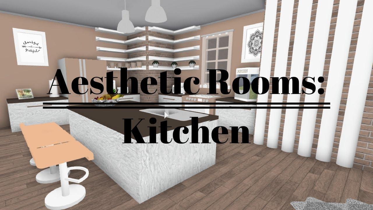 Bloxburg Aesthetic Rooms Kitchen 28k Youtube