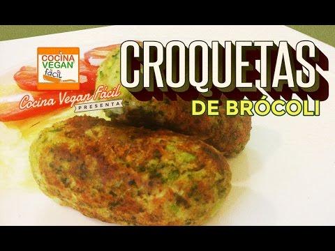 Croquetas de brcoli  Cocina Vegan Fcil  YouTube