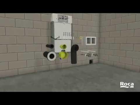 c mo se instala un inodoro suspendido roca youtube