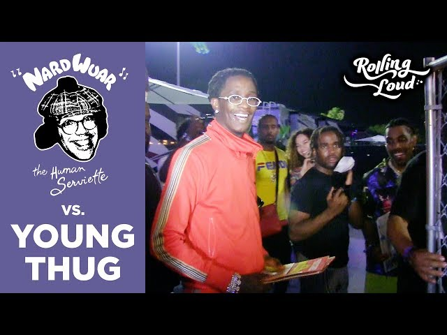 Young Thug Chats With Nardwuar at Rolling Loud