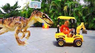 Senya raised a big Dinosaur! Stories for Kids