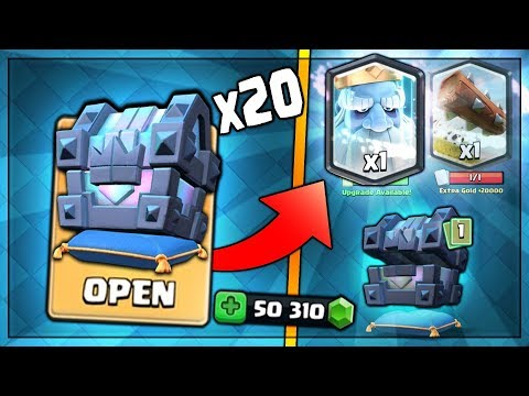 OPENING x20 LEGENDARY KINGS CHEST! NEW ROYAL GHOST HUNT! | Clash Royale | BIG KINGS CHEST OPENING!