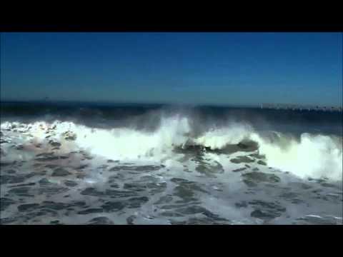 Hugh Waves at Ocean Beach, San Diego, California