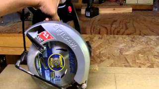 How to Make a Plunge Cut with Circular Saw Cut Shape in Wood