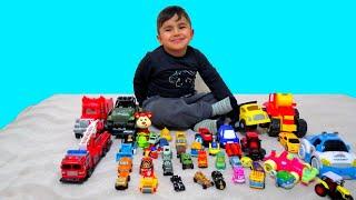 Evde Dev Araba Marketi Kurduk | Rüzgar Annesi ile Oynadı |Oyuncak Arabalarını Sattı | Araba Oyunları