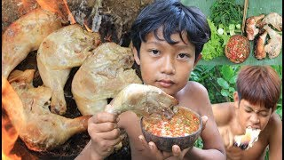 Baixar Primitive Technology - Cooking chicken on a rock and eating delicious