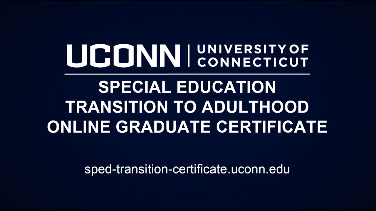 Special Education Transition To Adulthood Online Graduate