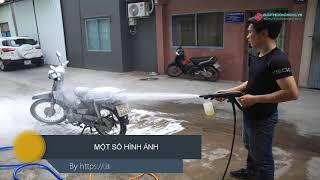 Mở hộp test nhanh máy rửa xe gia đình Lutian LT120G 1600W