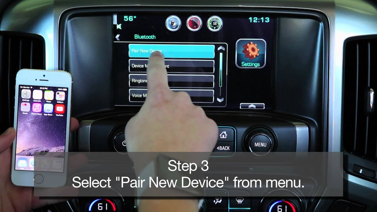 How To Pair the iPhone with Chevy MyLink by Bluetooth