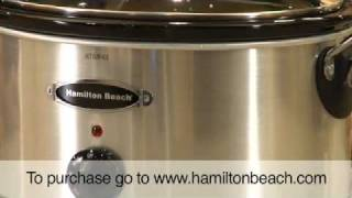 Hamilton Beach® Stay or Go® 6 Quart Stainless Look Slow Cooker (33162R)