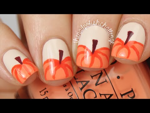 Easy Autumn Pumpkin Nail Art