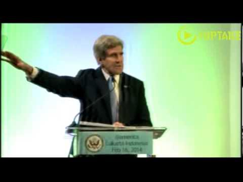 Kerry Mocks Climate Change Deniers- Full Speech in Jakarta