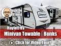 UPDATED 2019 Jayco 154BH Jay Flight SLX Minivan Towable Bunkhouse Tiny Camper
