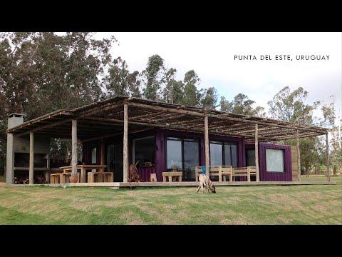 Colourful  Container Beach House in Punta del Este, Uruguay