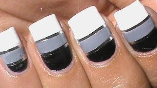 Striping tape nail art designs tutorial - How to