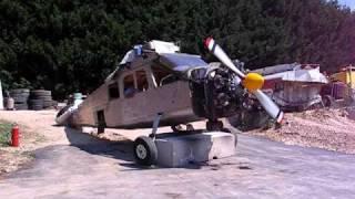 Moteur avion Broussard restauré