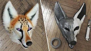 Скотчевая выкройка и офурение маски ✂ Irruan